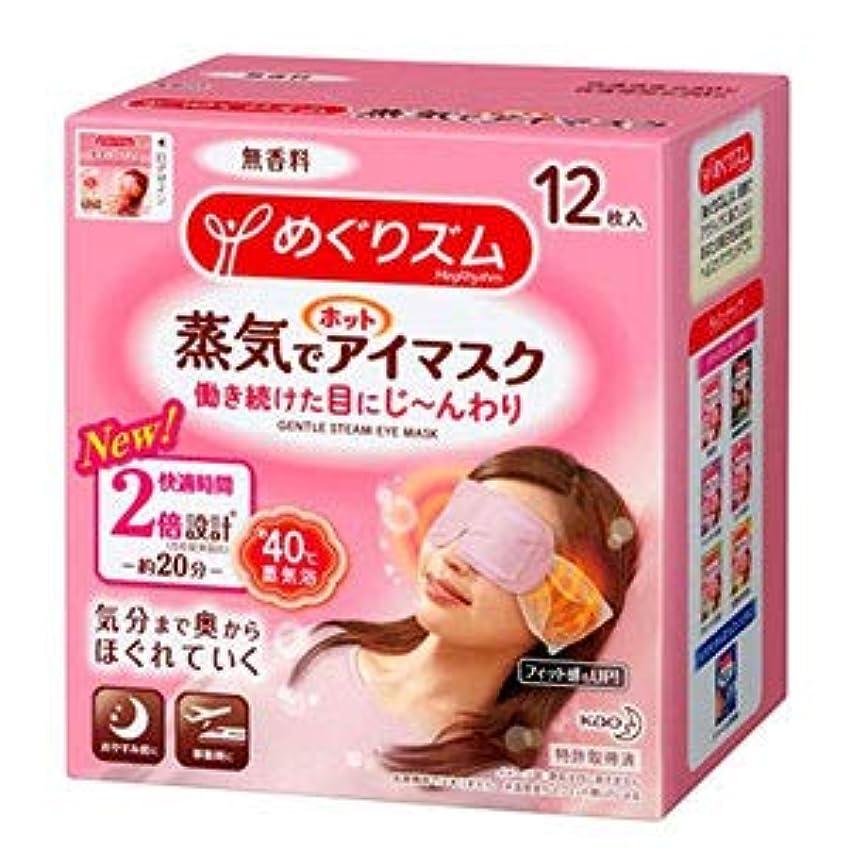 本気徹底的に血まみれのめぐりズム 蒸気でホットアイマスク 無香料 12枚入×12個