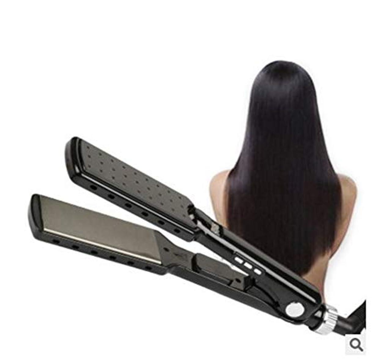 オーバーフロー正しい背が高いプロのサロン高品質フラットアイアンストレートヘアアイロンインスタント加熱デュアル電圧トラベルヘアストレートニングアイロンすべての髪の滑りやすいスライドに適しています