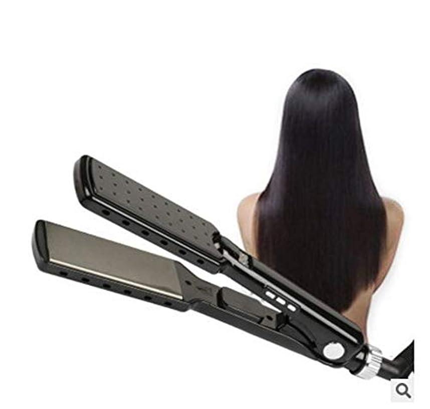 落胆した潤滑するプランテーションプロのサロン高品質フラットアイアンストレートヘアアイロンインスタント加熱デュアル電圧トラベルヘアストレートニングアイロンすべての髪の滑りやすいスライドに適しています