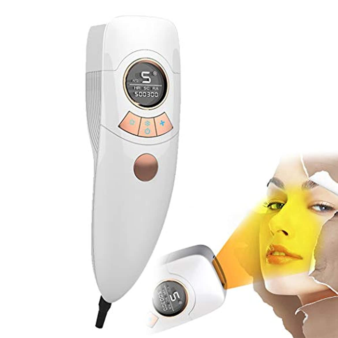 まどろみのあるブローホールメーター電気脱毛装置は痛みがありません女性4で1充電式電気脱毛器の髪、ビキニエリア鼻脇の下腕の脚の痛みのない永久的な体毛リムーバー-White