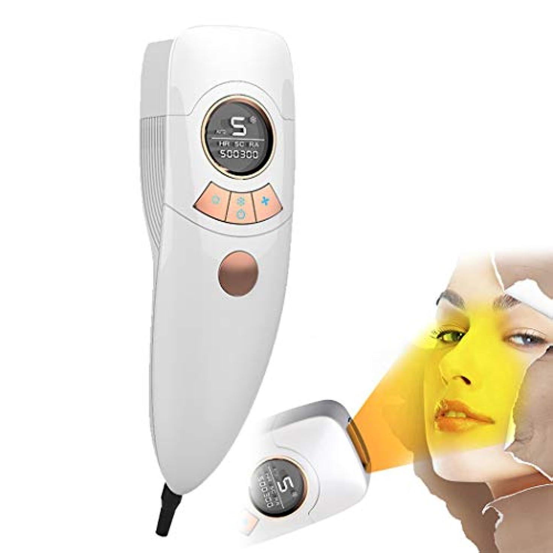 光電変更可能潮電気脱毛装置は痛みがありません女性4で1充電式電気脱毛器の髪、ビキニエリア鼻脇の下腕の脚の痛みのない永久的な体毛リムーバー-White