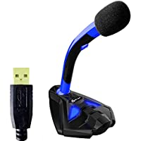 KLIM Voice スタンド付きマイク USB接続 ノートPC デスクトップPC ゲーム PS4 (ブルー)