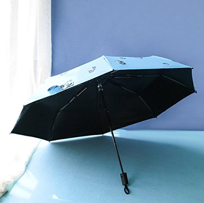 自治的不正セーブ子供の漫画のジングルの猫のビニル傘屋外傘サン傘日焼け止めUV保護