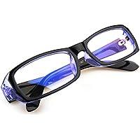 FREESE ブルーライトカット メガネ PC眼鏡 UVカット ファッション 伊達メガネ 透明レンズ スクエア(ブルー)