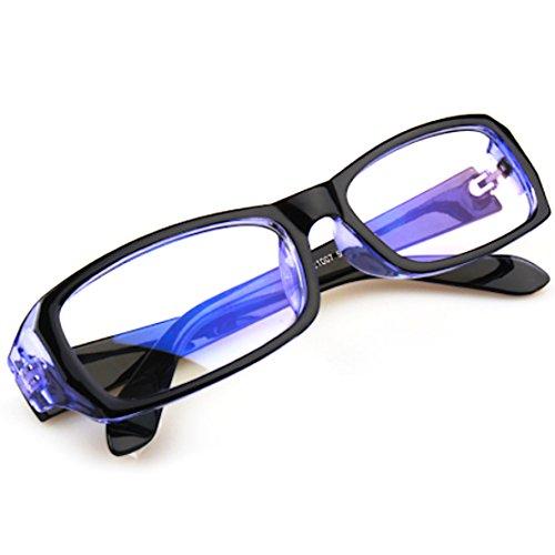 FREESE(フリーゼ) 目の疲労を和らげる ブルーライト メガネ PC眼鏡 UVカット パソコン用 伊達メガネ クロス&ケース(ブルー)