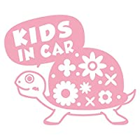 imoninn KIDS in car ステッカー 【シンプル版】 No.53 カメさん (ピンク色)