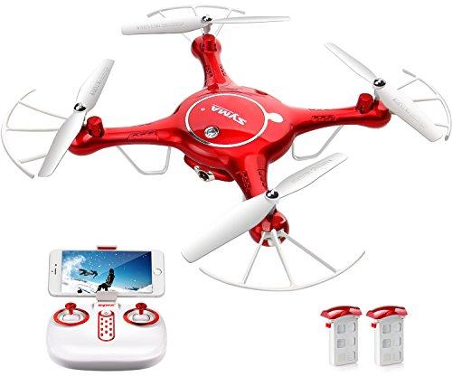 Syma X5UW Wifi FPV ドローン 720P HD カメラ 生中継 リアルタイム RC ラジコン クアッドコプター マルチコプター 4GB SDカード付 指定軌道飛行 バロメーター 高度維持機能 [並行輸入品]