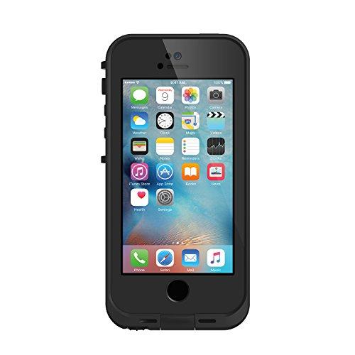 【日本正規代理店品・iPhone本体保証付】LIFEPROOF 防水ケース 防塵 耐衝撃 fre iPhoneSE/5s/5 対応 4インチ Black/Black 360°フルプロテクション 77-53685