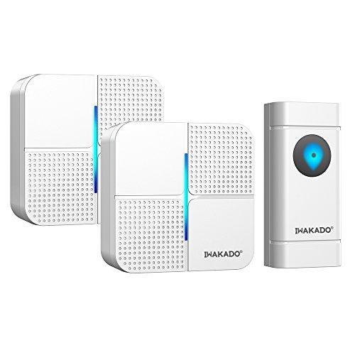 IWAKADO ワイヤレスチャイム 押ボタン1個+受信機セット2個 介護 来...