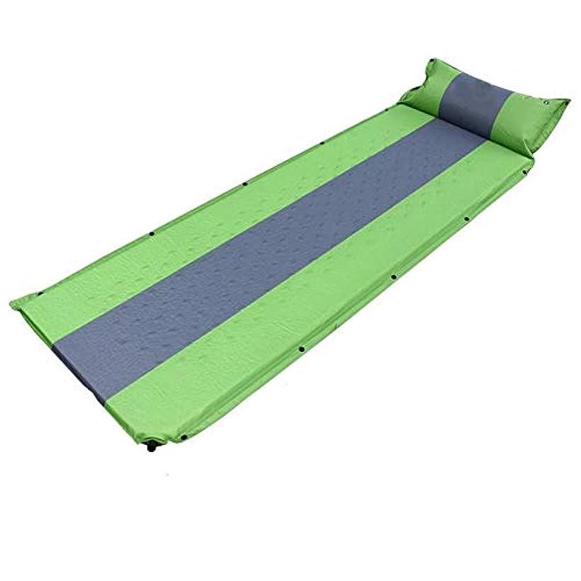 人間比べる言うまでもなく爆発の枕、ハイキングのための軽量の膨脹可能なパッドの泡の携帯用エアマットのベッドが付いている自己膨脹する睡眠のマットレスのキャンプ (色 : 緑, サイズ さいず : L l)