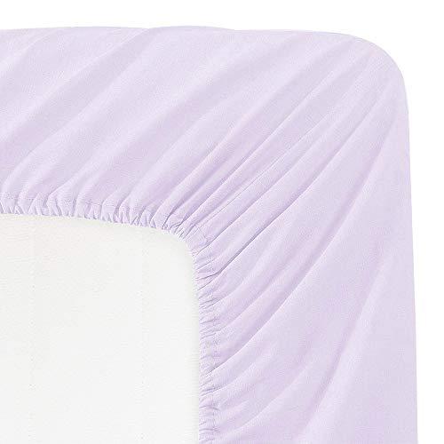 TotMart Organic Cotton Fitted Crib Sheet, Hypoallergenic Breathable Crib Mattress Sheets, Baby Bedding Nursery Bedding Deep Pocket Sheet, Crib Mattress Toddler Bed Cover, 52