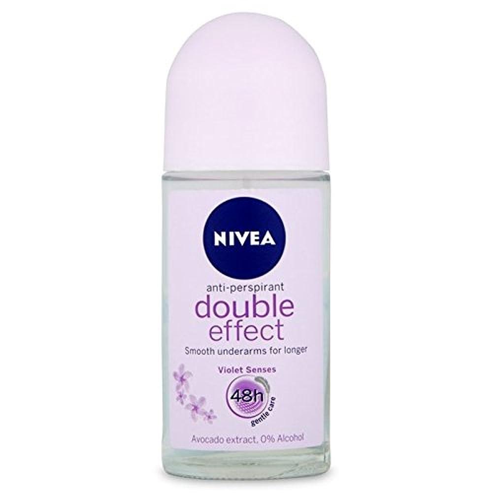 ゲインセイ犠牲モンクNivea Deo Double Effect Gentle Care Roll On Deodorant 50ml - 消臭50ミリリットルのニベアダブル効果優しくケアロール [並行輸入品]