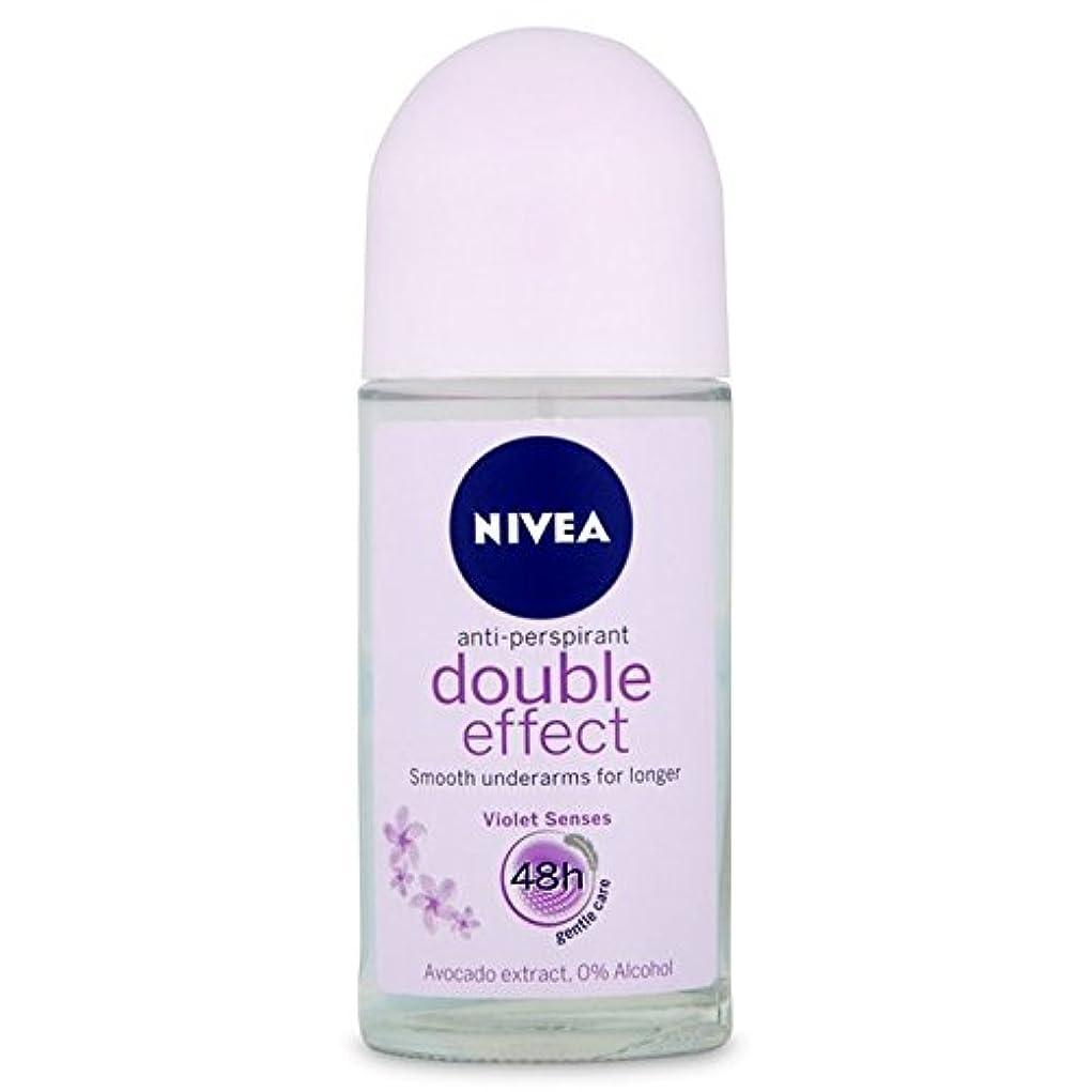 メール軽減作曲するNivea Deo Double Effect Gentle Care Roll On Deodorant 50ml - 消臭50ミリリットルのニベアダブル効果優しくケアロール [並行輸入品]