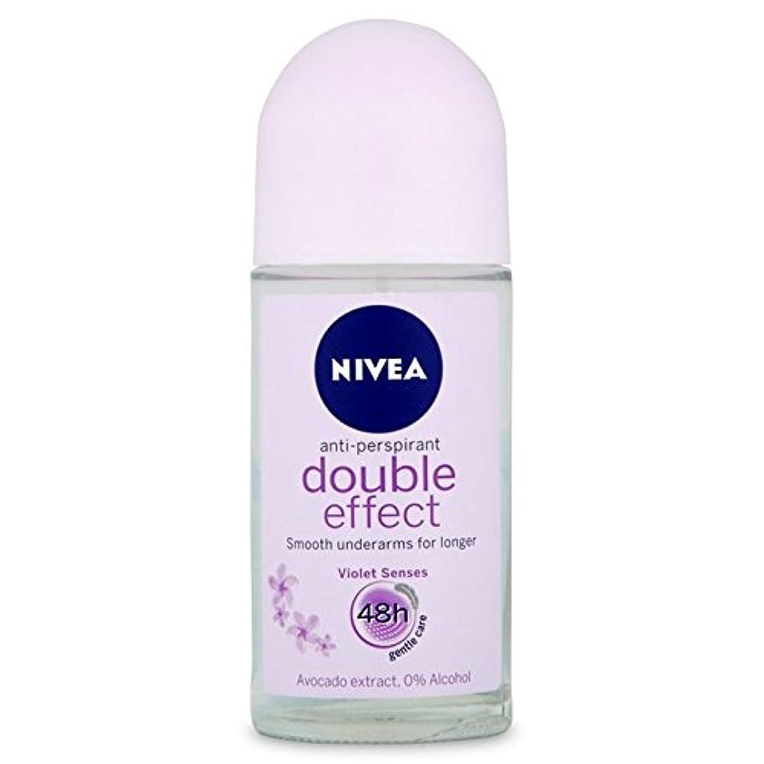 に渡って同等の明確なNivea Deo Double Effect Gentle Care Roll On Deodorant 50ml - 消臭50ミリリットルのニベアダブル効果優しくケアロール [並行輸入品]