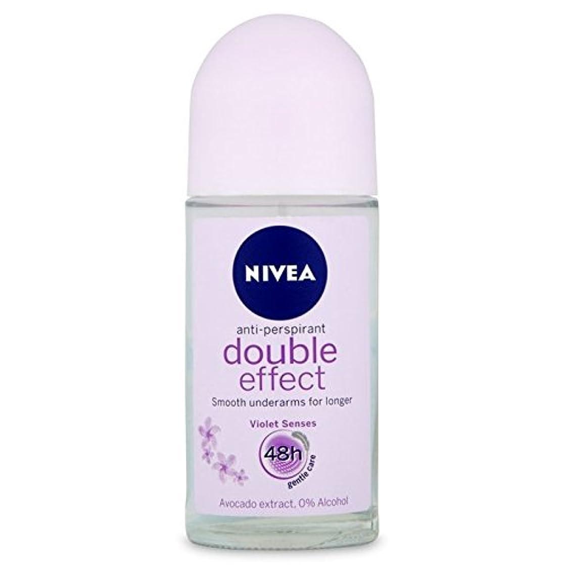 傷つける順応性のある罪Nivea Deo Double Effect Gentle Care Roll On Deodorant 50ml - 消臭50ミリリットルのニベアダブル効果優しくケアロール [並行輸入品]