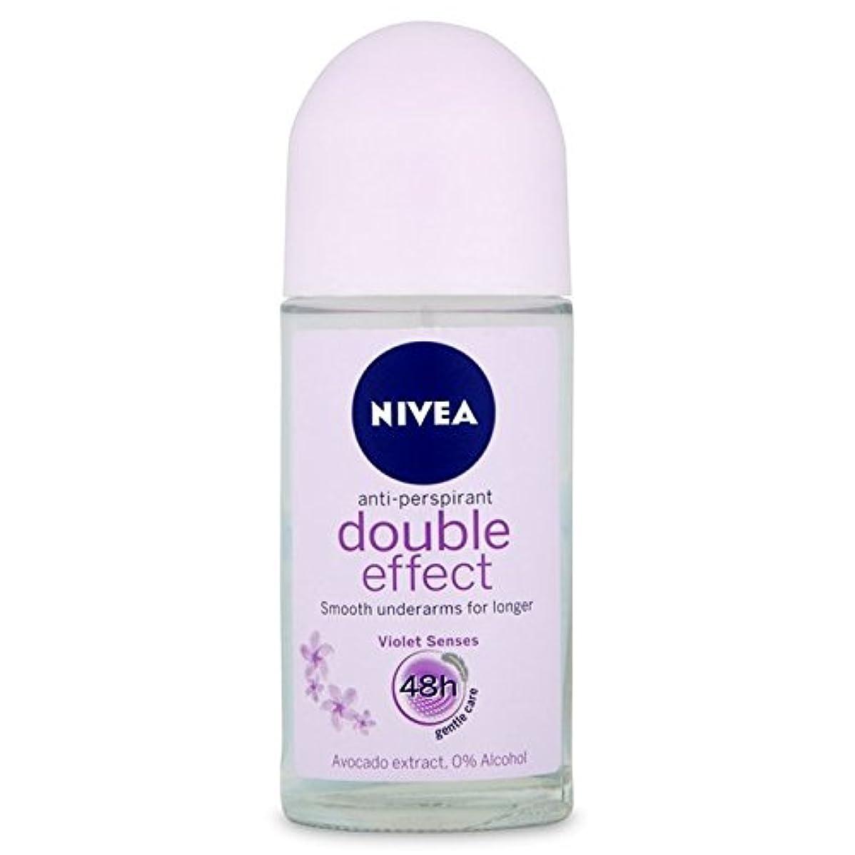 不倫アームストロング奨励しますNivea Deo Double Effect Gentle Care Roll On Deodorant 50ml - 消臭50ミリリットルのニベアダブル効果優しくケアロール [並行輸入品]