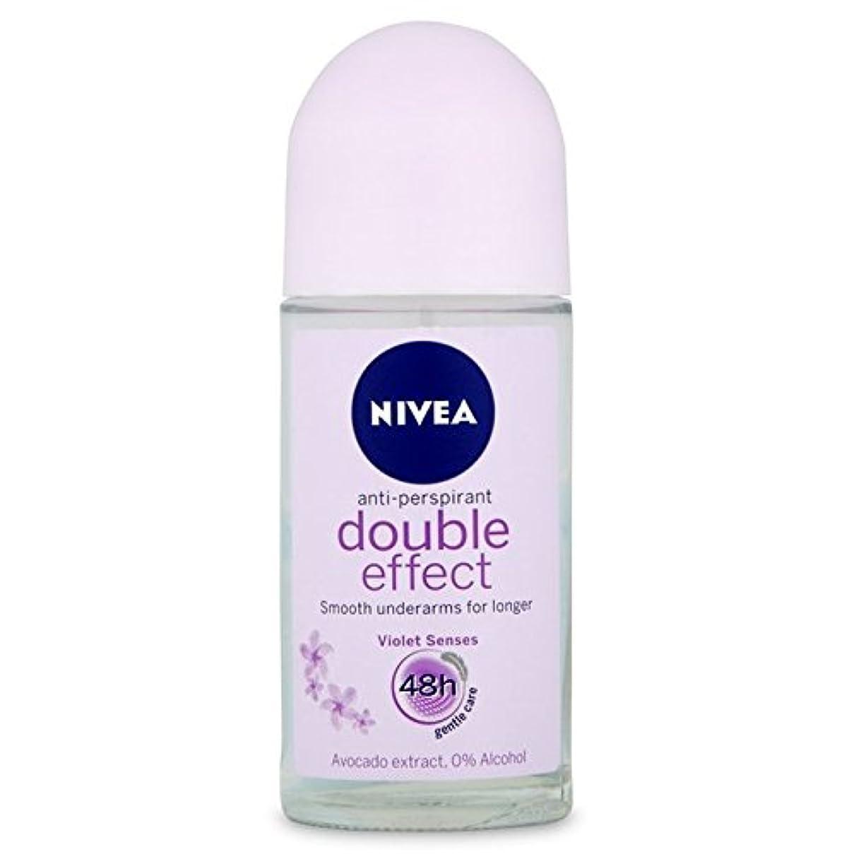 昆虫精緻化シャープNivea Deo Double Effect Gentle Care Roll On Deodorant 50ml - 消臭50ミリリットルのニベアダブル効果優しくケアロール [並行輸入品]