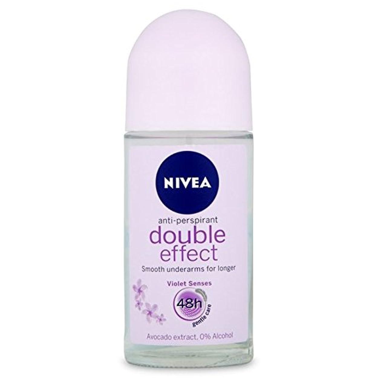 ファウル機械嫉妬Nivea Deo Double Effect Gentle Care Roll On Deodorant 50ml - 消臭50ミリリットルのニベアダブル効果優しくケアロール [並行輸入品]