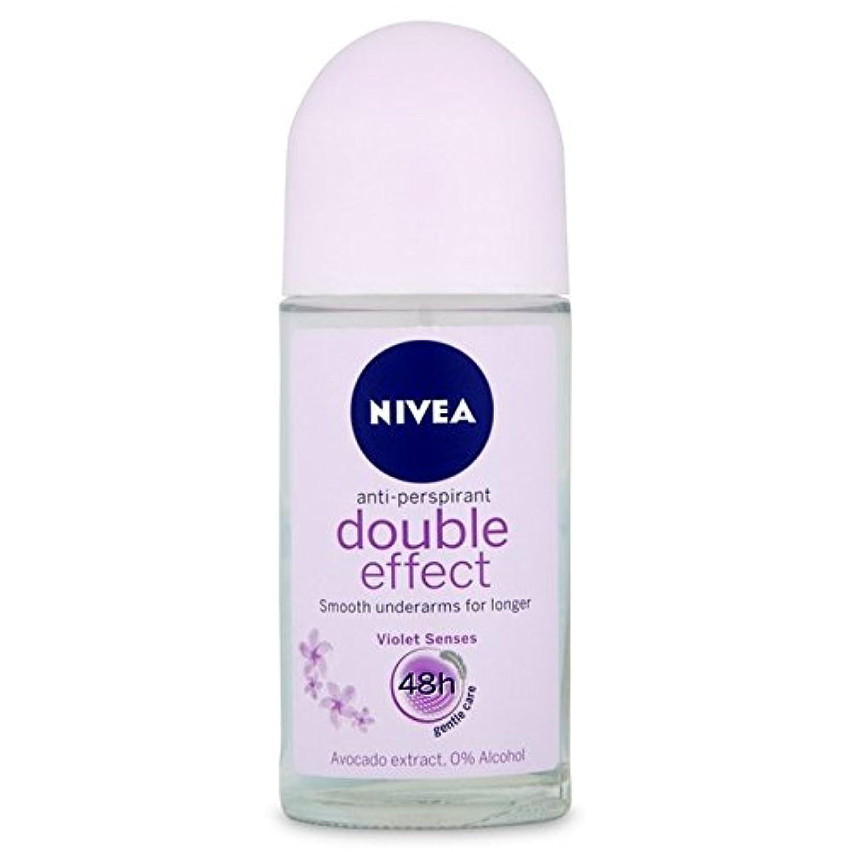 受賞アマゾンジャングルクロールNivea Deo Double Effect Gentle Care Roll On Deodorant 50ml - 消臭50ミリリットルのニベアダブル効果優しくケアロール [並行輸入品]