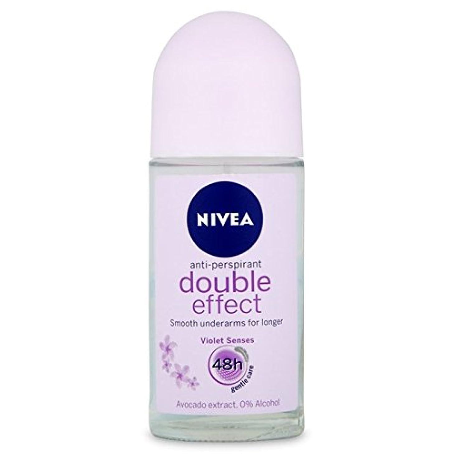 哲学的包囲個人的にNivea Deo Double Effect Gentle Care Roll On Deodorant 50ml - 消臭50ミリリットルのニベアダブル効果優しくケアロール [並行輸入品]