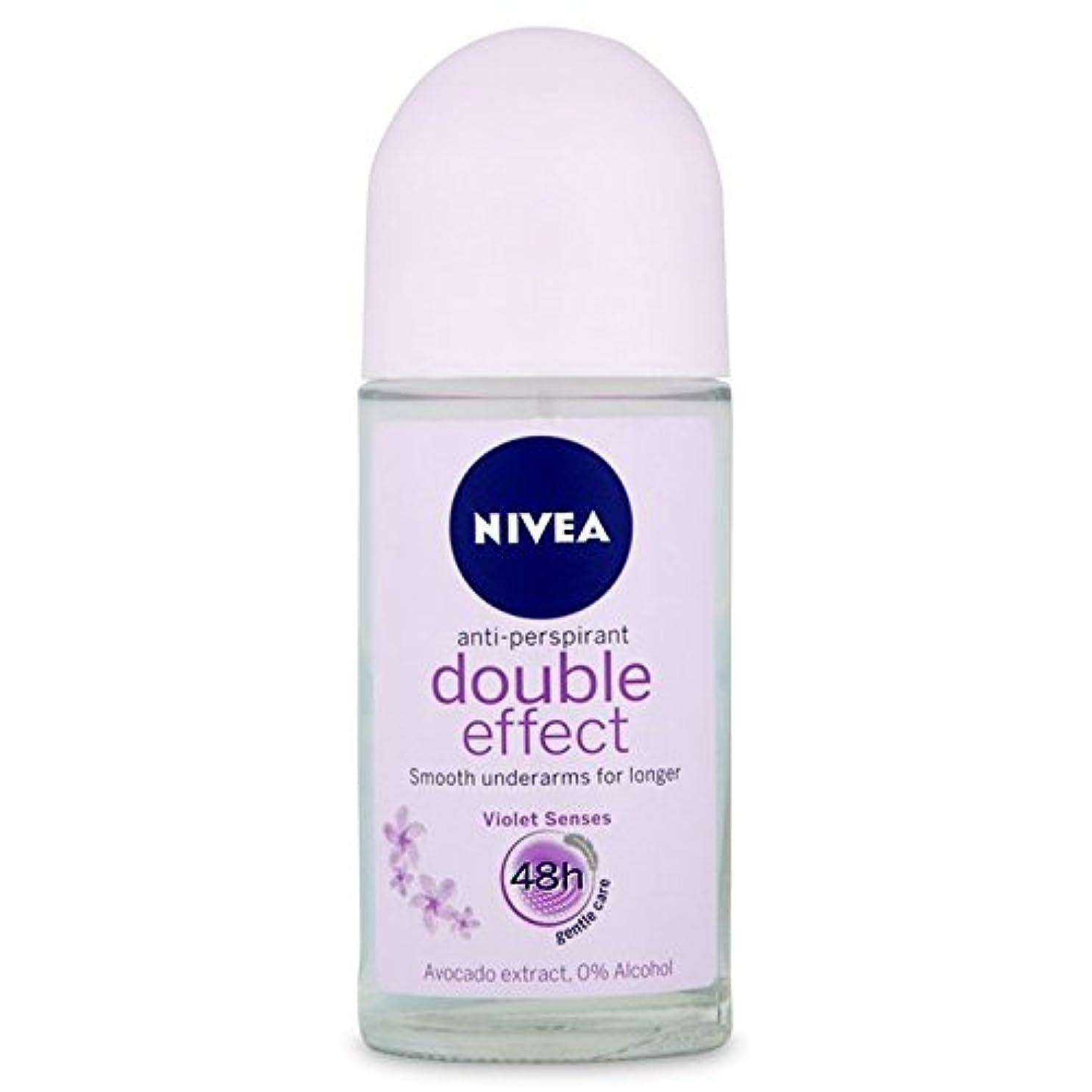 ウルルシアー有名Nivea Deo Double Effect Gentle Care Roll On Deodorant 50ml - 消臭50ミリリットルのニベアダブル効果優しくケアロール [並行輸入品]