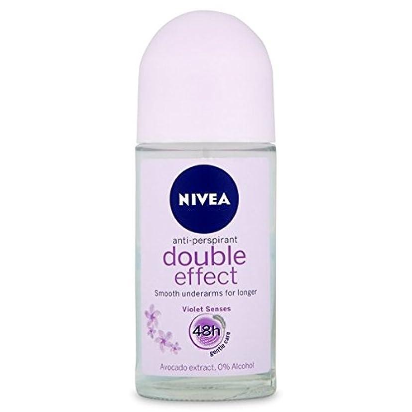 知り合いになる輸送ダッシュNivea Deo Double Effect Gentle Care Roll On Deodorant 50ml - 消臭50ミリリットルのニベアダブル効果優しくケアロール [並行輸入品]