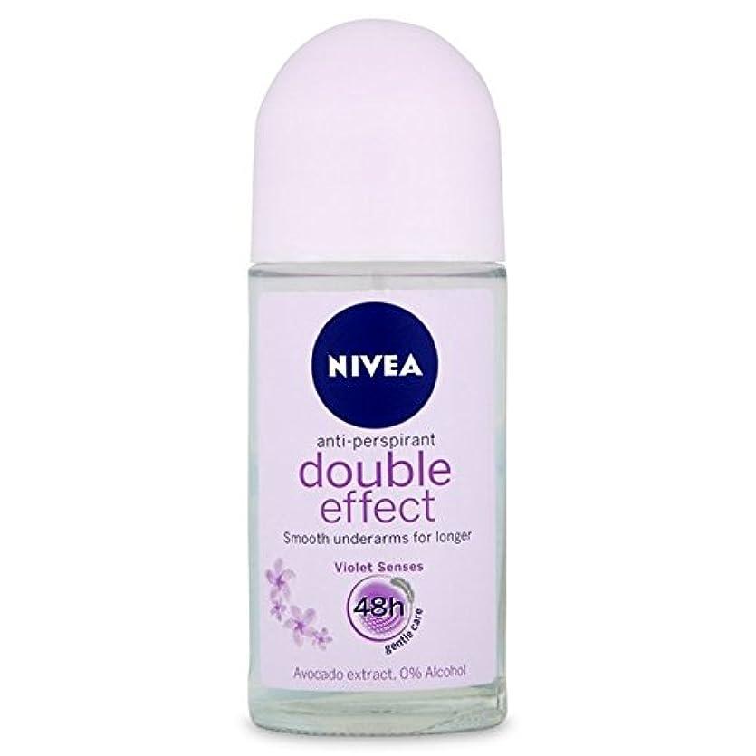 急降下酸っぱい苦いNivea Deo Double Effect Gentle Care Roll On Deodorant 50ml - 消臭50ミリリットルのニベアダブル効果優しくケアロール [並行輸入品]