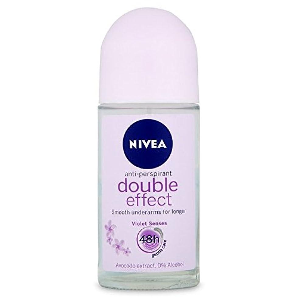 Nivea Deo Double Effect Gentle Care Roll On Deodorant 50ml - 消臭50ミリリットルのニベアダブル効果優しくケアロール [並行輸入品]