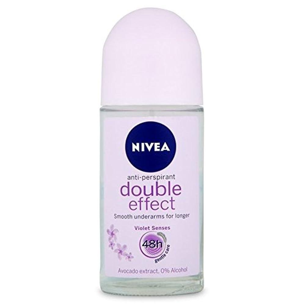 接続された優雅ボートNivea Deo Double Effect Gentle Care Roll On Deodorant 50ml - 消臭50ミリリットルのニベアダブル効果優しくケアロール [並行輸入品]