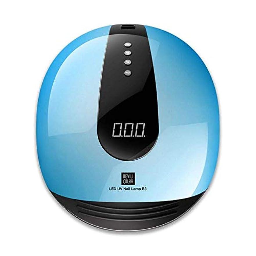 代表ワードローブ穏やかなネイルドライヤー80WカラフルなUV LEDランプマニキュア36 LEDマシンUVオングルネイルドライヤーアイスNagelランプサンライト高速硬化すべてのゲルワニス、画像としての色