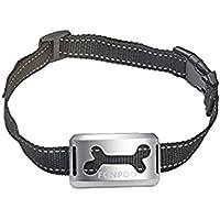 FONPOO 無駄吠え防止首輪  犬しつけ ペットトレーニング 全犬種対応 警告音・振動機能付き 充電式 二色付き FP668V