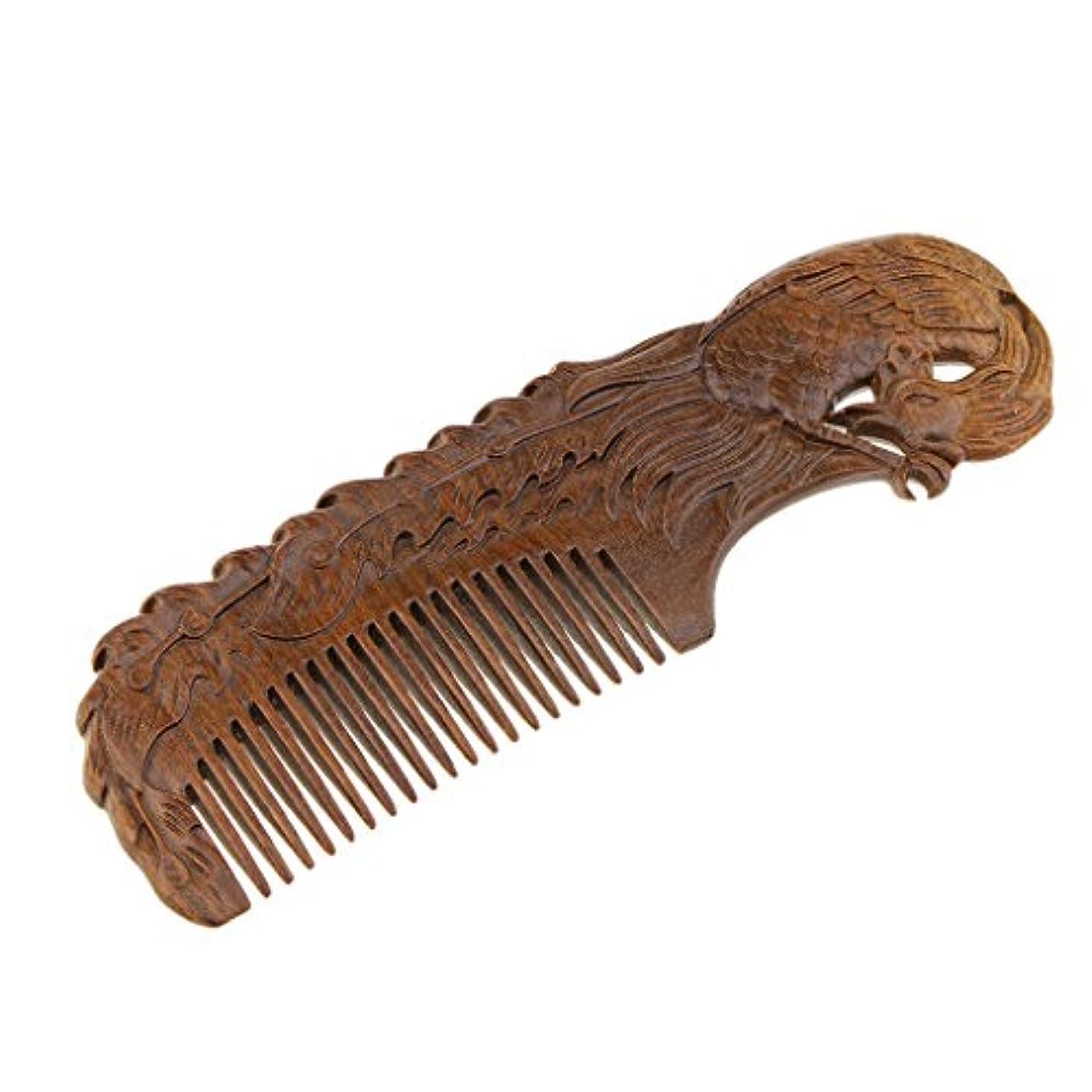 破滅的な活性化する物理的にヘアブラシ ヘアコーム 木製櫛 コーム 伝統工芸品 プレゼント 2タイプ - Phoenix