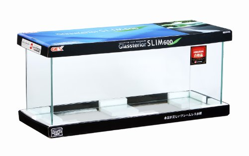 ジェックス グラステリアスリム600水槽 フレームレス水槽 奥行スリム