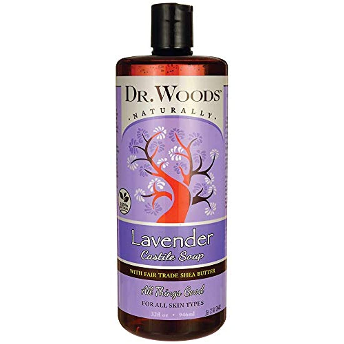 中止します言語文庫本Dr. Woods, Shea Vision, Soothing Lavender Castile Soap, 32 fl oz (946 ml)