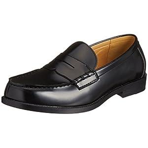 [クリアアンドクリア] CLEAR&CLEAR メンズローファー 通学靴 2703 BLK(ブラック/26.0)