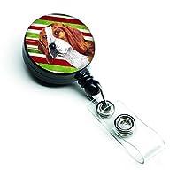 Caroline's Treasures Beagle Candy Cane Holiday Christmas Retractable Badge Reel Multicolor (SC9329BR) [並行輸入品]