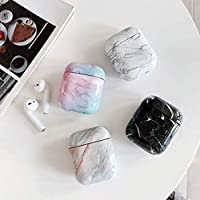 HEADPHONE CASE HOME 漢Fengyun石airpods2保護カバーアップルワイヤレスBluetoothヘッドセット大理石ハードシェル潮 (Color : Grey, Size : Airpods1/2)