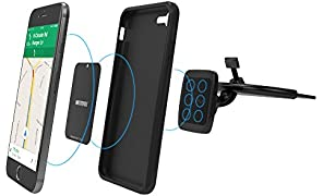 Wuteku Magnetic Car CD Slot Phone Mount Compatible with any phone - Heavy Duty Adjustable Mounting System