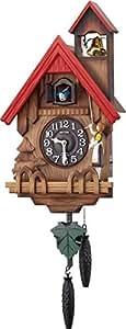 リズム時計 RHYTHM カッコー時計 カッコーチロリアンR 本格的ふいご式 濃茶ボカシ木地仕上 4MJ732RH06