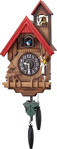 リズム時計 RHYTHM カッコー 掛け時計 カッコーチロリアンR 本格的ふいご式 茶 木地仕上 4MJ732RH06