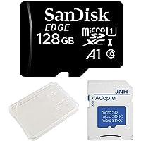 SanDisk サンディスク 超高速UHS-I microSDXC 128GB アプリ最適化 A1対応+ SD アダプター + 保管用クリアケース [バルク品]