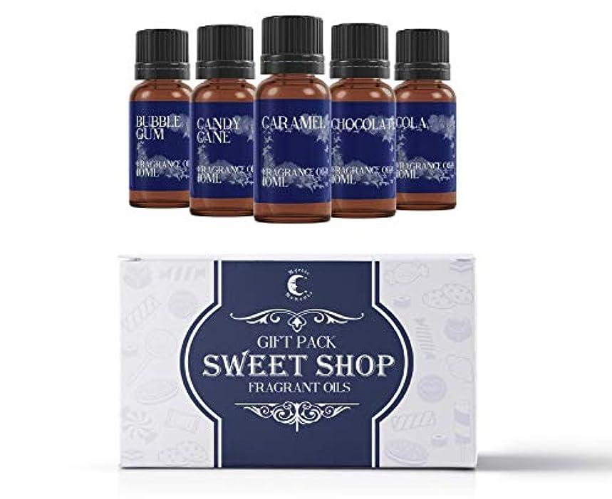 ペースプレゼント長くするMystic Moments | Fragrant Oil Starter Pack - Sweet Shop - 5 x 10ml
