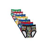 Marvel Boys' Toddler 7-Pack Superhero Adventures Brief Underwear