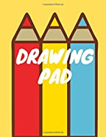 """DRAWING PAD: Large Kids Sketch Book for Drawing and Sketching 120 pages """"8.5 x 11"""" ( Blank Paper Drawing)."""