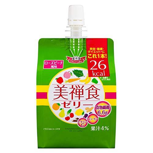 美禅食ゼリー ローズピーチ風味 200g