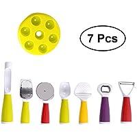 BESTONZON 子供用 シェフ コスプレー用品 キッチン知育玩具 多機能ピーラークリームスクープピザカッターオープナー キッチンアクセサリー 11個入