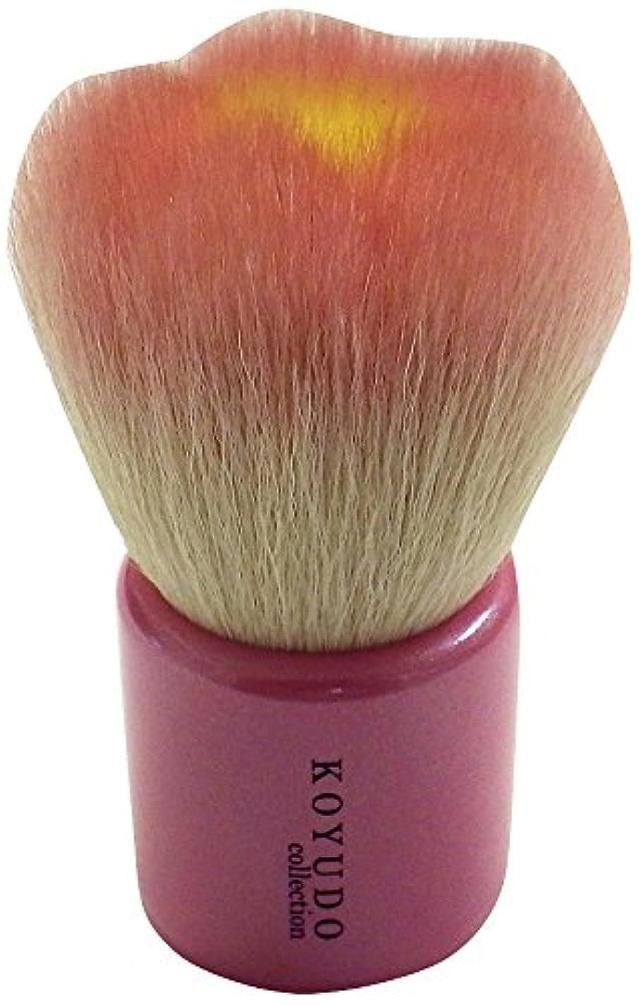 司令官ペストリー不定熊野筆 フラワー洗顔ブラシ(ピンク) KOYUDO Collection