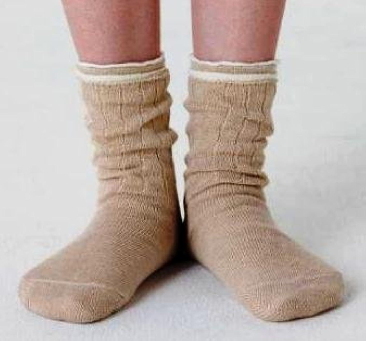 滑りやすい大陸ホース冷え取り靴下 4枚重ね履きソックス(絹?綿?絹?綿) Lサイズ:25~27cm