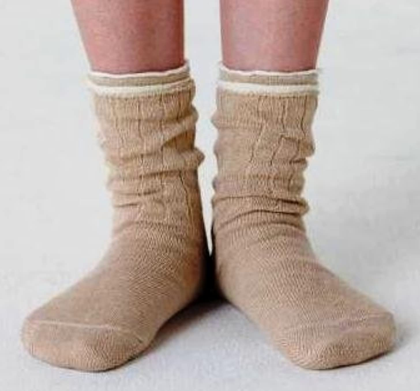 超える砲撃雇用者冷え取り靴下 4枚重ね履きソックス(絹?綿?絹?綿) Lサイズ:25~27cm