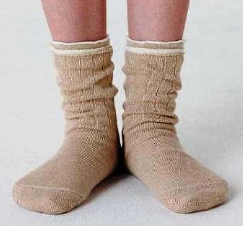 機械的にバッグキャリア冷え取り靴下 4枚重ね履きソックス(絹?綿?絹?綿) サイズ:22~24.5cm
